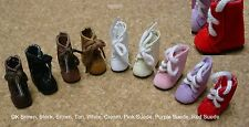 Doll Shoes, 25/12mm CREAM Lace up Boots Custom for Kish Riley