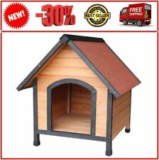 ChYoung Dog House Pet Outdoor Bed Wood Shelter Home Weather Kennel Waterproof Do