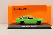 OPEL KADETT C COUPÉ 1974 GREEN MAXICHAMPS 1/43 NEUF EN BOITE