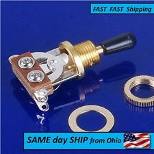 Gold Plated 3 way guitar switch - - - - FAST Same Day Shipping from OHIO