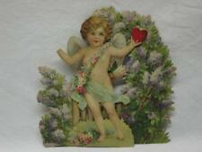 Cupids Message Valentines Day Card Mechanical Embossed Die Cut Antique Victorian