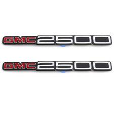 OEM NEW Front Door Left and Right GMC 2500 Emblem Set 88-02 C2500 K2500 15551237