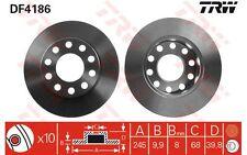 TRW Juego de 2 discos freno Trasero 245mm VOLKSWAGEN CRAFTER SEAT EXEO DF4186