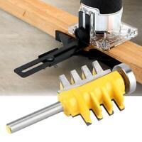 "Router Bit 1/4"" Shank Finger Joint Tenon Milling Cutter Woodworking Cutter Tool"