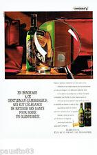 PUBLICITE ADVERTISING 086  1987  Glenfiddich  whisky hommage gentleman-cambriole