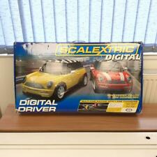 Scalextric Digital Driver Set Mini Cooper Red Yellow Cars Tracks Boxed Unchecked