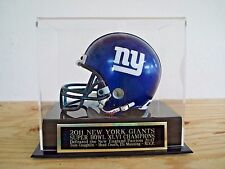 Football Mini Helmet Case With A N.Y. Giants Super Bowl 46 Engraved Nameplate