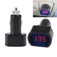 Testeur de Batterie Auto Allume-cigare Voltmetre Voiture Universel DC 12~24 V
