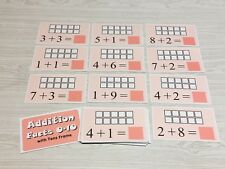 Addition 0-10 Ten Frames Learning Center- Laminated - Math Set