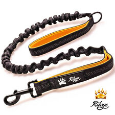 Rileys™ Anti Shock Dog Lead Strong Stetchy Bungee Reflective Walking Leash