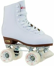 Chicago Women's Classic Roller Skates -Premium White Quad Rink Skates Size 5 US