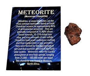 MOROCCAN Chondrite Stony METEORITE - ONE - Size (M) 4 to 10 gram
