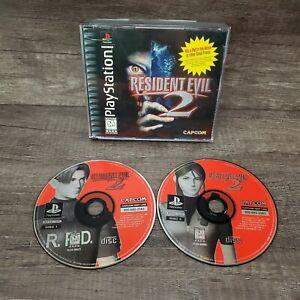 Resident Evil 2: Dual Shock (PlayStation 1, 1998) Black Label, Tested