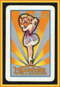 (516)Vintage  Art Deco Mackintosh's Toffee Chocolates Single J.W Card c1925-35