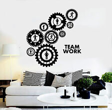 Vinyl Wall Decal Teamwork Gears Office Decoration Stickers (ig4368)