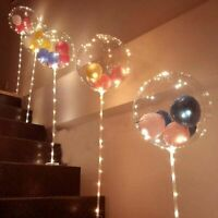 Led Balloon With Column Stand Luminous Transparent Birthday Party Decoration