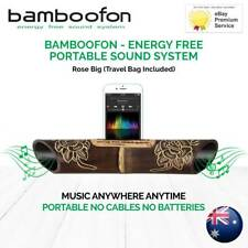BambooFon - Energy Free Portable Sound System - Rose big (Travel Bag Included)