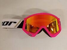 Thor Combat Adult Flo Pink w/ Clear & Fire Iridium Lens MX ATV Dirtbike Goggle