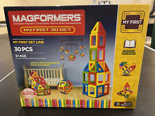 Magformers My First 30 Set New! Magnetic Building Set Stem Learning Toy