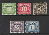BOIC MEF 1942 POSTAGE DUE SET TO 1s UNMOUNTED MINT SG MD1 to MD5