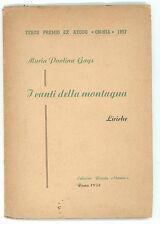 GAYS MARIA PAOLINA I CANTI DELLA MONTAGNA RIVISTA OMNIA 1958 POESIA