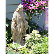 Virgin Mary Garden Statue Religious Indoor Outdoor Blessed Mother Sculpture Home