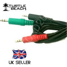 Replacement PC Chat Adapter CABLE for TURTLE  BEACH and Similar Gaming Headsets.