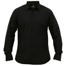 Camisas y polos de hombre negra de algodón y poliéster