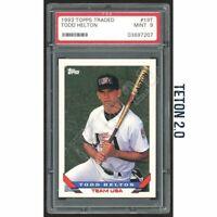 Todd Helton RC Rookie PSA 9 Mint 1993 Topps Traded #19T Rockies MVP HOF? MLB 1B*