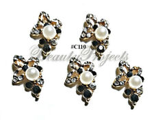 5pc Nail Art Charms 3D Nail Rhinestones Decoration Jewelry DIY Bling - C110