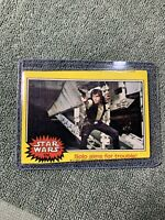 Topps STAR WARS 1977 Trading Card #174 Error-Bad Mis Cut - Harrison Ford