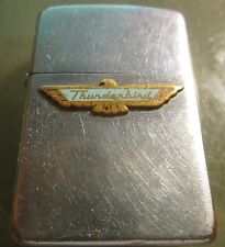 Vintage RARE FORD THUNDERBIRD  ZIPPO Lighter PAT. 2517191 NICE ADVERTISING