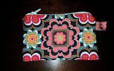 LOTTA KUHLHORN zipped pouch coin purse SWEDEN floral Scandinavian design