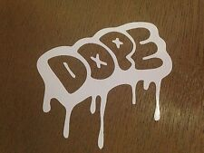 "4""  DOPE DRIPPING  MELTING decal window sticker vinyl decal jdm car truck"