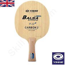 Yinhe Via Lattea T11 + Tavolo Tennis Blade BALSA Core 5 LEGNO + 2 CARBONIO * UK Venditore *