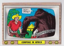 1969 TOPPS CRAZY TV COWPOKE IN AFRICA CARD #17 FINISHED TEST ISSUE EX-MT