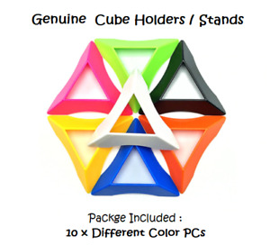 10 psc Magic Cube Base Holder Multi Color Set 3x3 to 6x6 Rubik rubic rubix Stand