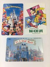 Tokyo Disneyland Vintage Phone Cards Used Lot Of 3 - (7232)