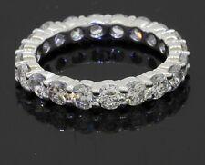 14K white gold elegant high fashion VS 2.35CT diamond eternity band ring size 6