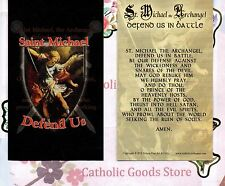 St Michael with Prayer to St Michael the Archangel - Paperstock Holy Card