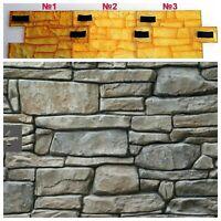 SET 3 pcs Concrete texture stamps mat POLYURETHANE printing cement plaster СHIP