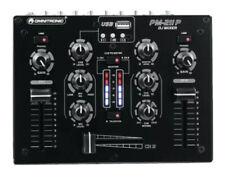 Omnitronic PM-211-P 2-Kanal DJ Mixer Mischpult MP3 Player schwarz 935566