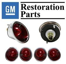 1963-1967 Corvette Tail Light Set 4 Red Lens GM Restoration Made USA Trim Parts