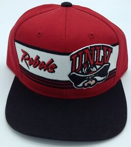 NCAA UNLV Rebels Adidas Adult Structured Adjustable Fit Cap Hat Beanie NEW!