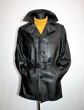 Vtg 80s HAGSTROM Finlan Mens Black Leather Motorcycle Biker Racer Jacket Coat 50