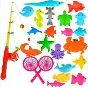12Pcs Game Magnetic Fishing Rod Baby Toy Fish Kids Educational Model