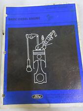 1982 Ford Basic Diesel Engine Service Repair Manual OEM Factory Dealer Shop