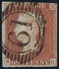 1841 1d Rojo Pl 68 Bg 4m Excelente Usado London 61 Numeral