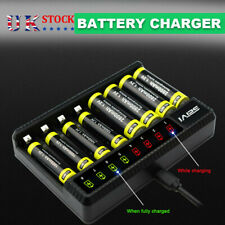 More details for 8 slot smart battery charger led display for aa/aaa nimh rechargeable batteries