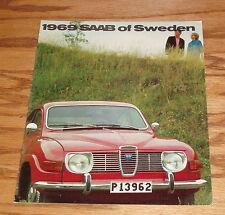 Original 1969 Saab Red Car Cover Deluxe Sales Brochure 69